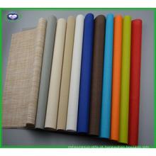 Placemat tabela de cor pura de PVC