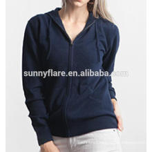 Fashionable Women Pure Cashmere Hoodie Sweater