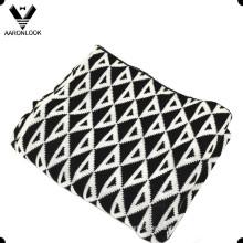 2016 100% acrílico personalizado diseño manta de invierno patrón de patrón
