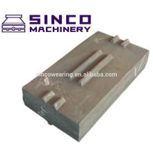 High Chrome Blow bar Cr26 Mn13Cr2 Mn18Cr2 Mn22Cr2 Cr20Mo Cr15Mo Martensitic Manganese PE series HP Series GP Series