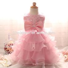 Fornecimento de fábrica de alta qualidade colorido puffy beaded vestidos de baptizado com preço barato