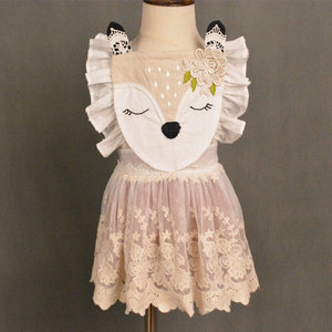 new baby girls dress lovely fawn embroidery dress