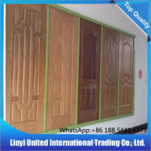4.2mm Interior Decoration Fashion Melamine HDF Molded Doorskin