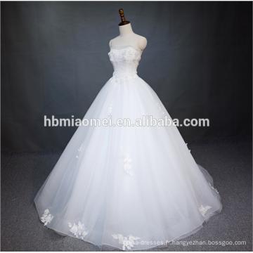 Princesse Pure White A Ligne Parole Longueur Dentelle Perlée Bretelles Backless Robe De Mariée De Mariage Avec Corset Retour