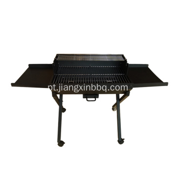 Trolley Charcoal Grill Outdoor com mesa lateral