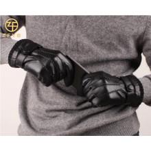 ZF0268 invierno guantes de cuero baratos hombres llevando
