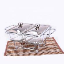 Buffet de prix bon marché servant de réchaud en verre chauffe-plats chaud