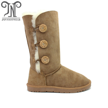 High Performance for Womens Leather Winter Boots Women's Button Comfort Winter Warm Snow Boots supply to Albania Exporter