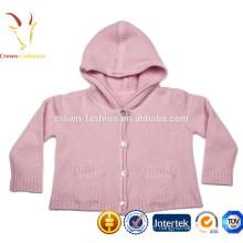 Bébé enfants Cachemire pull garçon / fille à capuche cardigan tricot