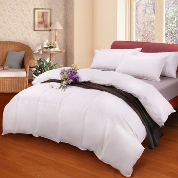Egyptian Cotton Super King Square Pattern Duvet Cover