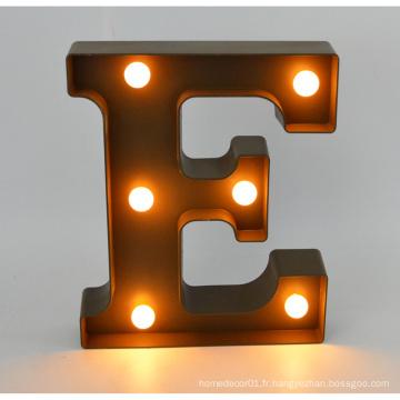 Nouvelle lettre LED en plastique pour la décoration intérieure