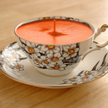 Unique handmade soy wax fragrant candles in cup