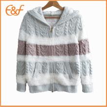 Fancy Yarn hiver à capuchon épais loisirs porter pyjama