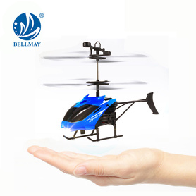 Infrared Hand Sensor Floating Helicopter with Light