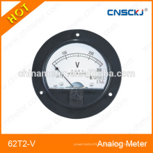 Voltmètre à panneau analogique rond 62T2-V 2014 chaud