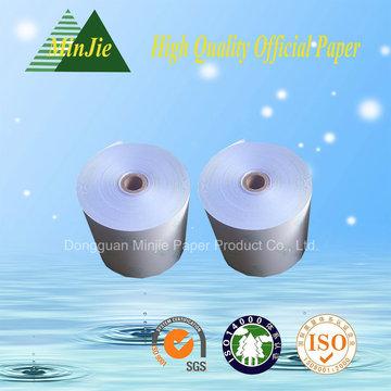 China Tipo de registro de caja autocopiativa Rollo de papel Rollo de papel directo de fábrica