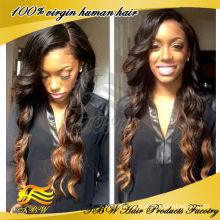 Brazilian virgin #1b/#8 ombre u part wigs for sale