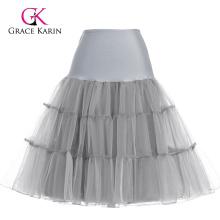 Grace Karin gris Tutu enaguas falda de crinolina encubrimiento para la boda vestido de la vendimia CL008922-10