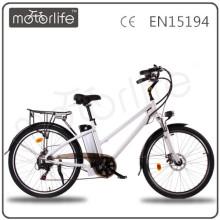MOTORLIFE / OEM EN15194 HEIßER VERKAUF 36v 250w 26 Zoll elektrisches Fahrrad mit Batterie