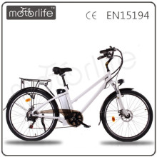 MOTORLIFE/OEM EN15194 HOT SALE 36v 250w 26 inch electrical bicycle with battery