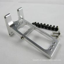 Bras arrière en aluminium taillés en diamant sur mesure