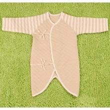Algodón orgánico rayas bebé manga larga invierno mameluco