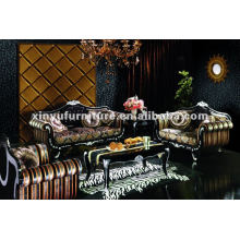 Living room classical wood carved sofas A80820