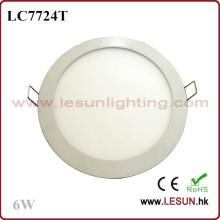 Luz de techo empotrada redonda de 6W LED (LC7724T)