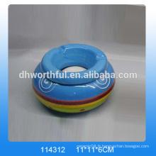 Cendrier personnalisé en céramique, cendrier en céramique avec logo pour vente en gros