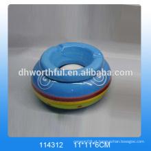 Cinzeiro cerâmico personalizado, cinzeiro de cerâmica com logotipo para venda por atacado