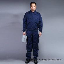 Costume de travail à manches longues à manches longues de haute qualité 100% coton (BLY2003)