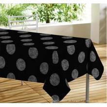 Toalha de mesa elegante com revestimento não tecido de apoio
