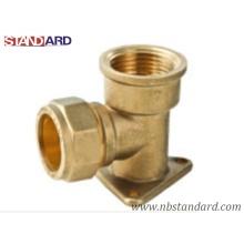 Mur en laiton plaqué pour le cuivre tuyau / raccord en cuivre avec filetage femelle