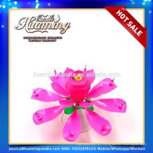 Velas de cumpleaños flameless rosa coloridas