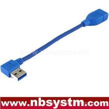 Ângulo de 90 graus USB 3.0 Um macho para um cabo fêmea