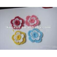 Nueva flor hecha a mano del ganchillo del diseño para la venda, la ropa, los zapatos, los accesorios del bolso