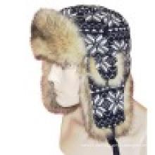 Sombrero de invierno con el hombre hizo piel (VT030)
