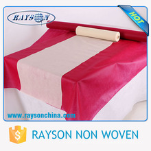Toalha de mesa de papel quadrado de cor sólida / corredor de tabela