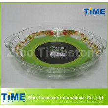 Plat de cuisson en verre rond Borosilicate de 2,5 L