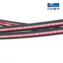Tuyau hydraulique tressé par fil à hautes températures de pression EN 853 2SN
