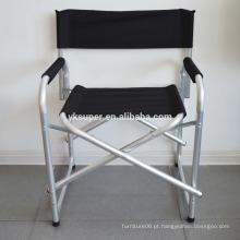 Cadeira de praia dobrável com apoio de braços, cadeira de acampamento, cadeira de diretor