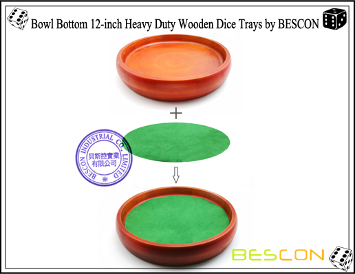 Bowl Bottom 12-inch Heavy Duty Wooden Dice Trays by BESCON-8