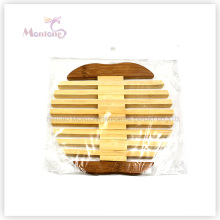 17.5*17*0.7cm Apple-Shaped Cup Mat Bamboo Coaster