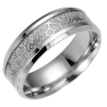 Tamaño barato del anillo del acero inoxidable 9 con el anillo de bodas de las palabras del amor Anillo barato del tamaño del anillo del acero inoxidable 9 con el anillo de bodas de las palabras del amor