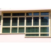 Configurações máximas Tempered Glass Aluminium Gliding Window Prices
