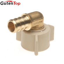GutenTop High Quality Lead Free Brass Barb Insert 1/2inch Female Pipe Thread Swivel Elbow with Plastic Nut