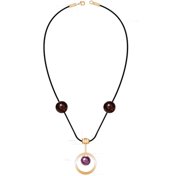 Circle Pendant Pearl Necklace for Fashion Women