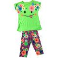 Ropa de niños de flores en traje de niños con impresión en pantalones cortos SGS-101