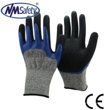 NMSAFETY 3/4 de óleo de nitrilo revestido e luvas de segurança resistentes a cortes