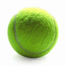 Tennis Ball, Made of rubber and Wool Non-woven Cloth, Sized 2.5-inch